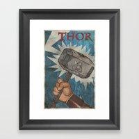 By the Hammer of Thor Framed Art Print
