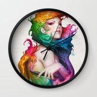 Angel of Colors Wall Clock