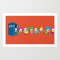 Clown Tardis Variant Art Print