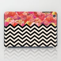 Chevron Flora iPad Case