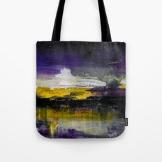 Purple Abstract Landscape Tote Bag