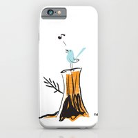iPhone & iPod Case featuring And Your Bird Can Sing by David Finley