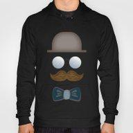Brown Top Hat, Moustache… Hoody