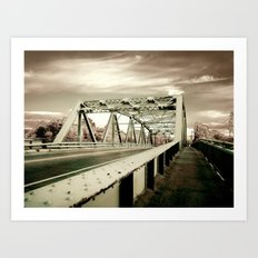 The Green Bridge Art Print