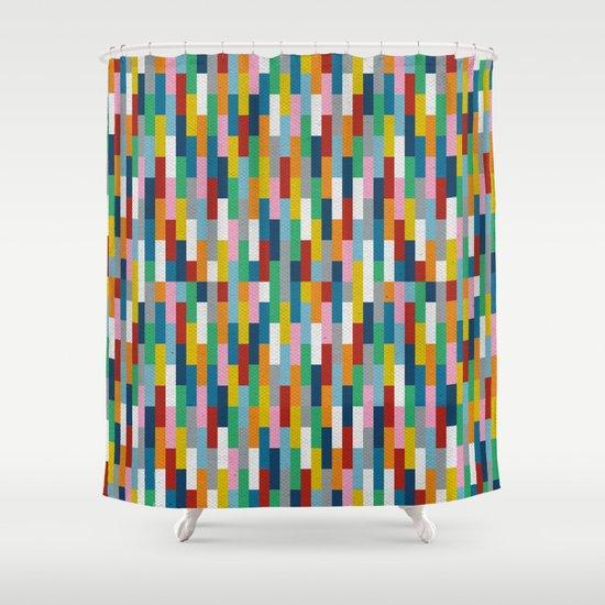 Bricks Rotate #2 Shower Curtain