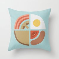 Breakfast Time (clock #2… Throw Pillow