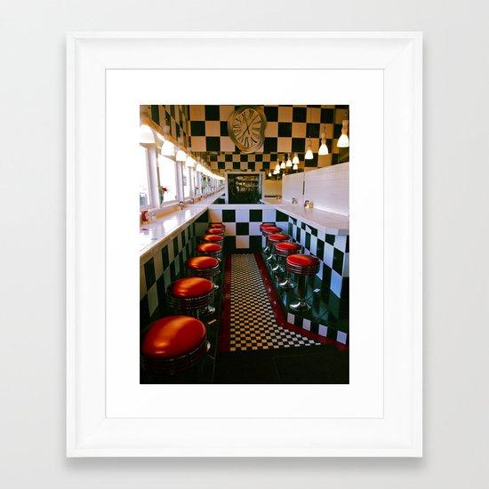 Diner classic Framed Art Print