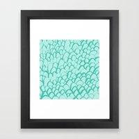Aqua Summer Framed Art Print