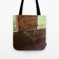 bikes on oak st Tote Bag