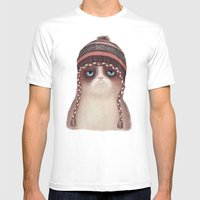 Under snow Mens Fitted Tee White SMALL