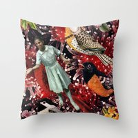Happy Bird day | Collage Throw Pillow