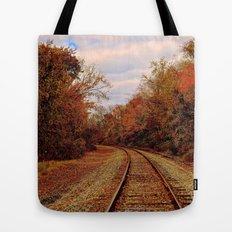 Fall on the Tracks Tote Bag