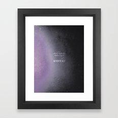 wander {violet Framed Art Print