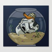 Snail Trooper Canvas Print