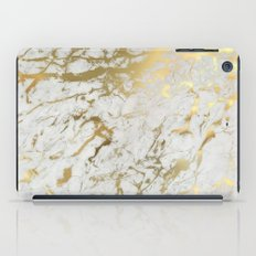 Gold marble iPad Case