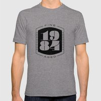 Fine Aged 1984 - Dark Mens Fitted Tee Tri-Grey SMALL