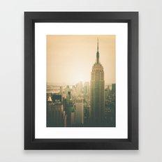 New York City - Empire State Building Framed Art Print