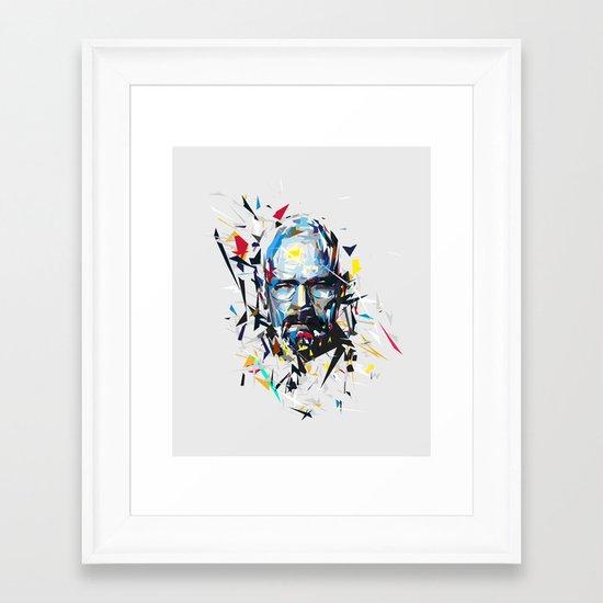 Mr. White Framed Art Print