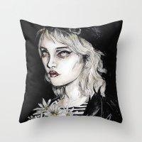 Sky Ferreira No………… Throw Pillow