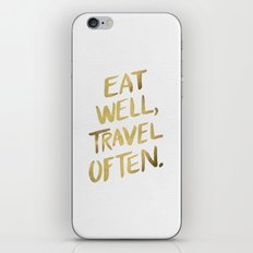 Eat Well Travel Often On… iPhone & iPod Skin