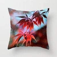 Japanese Red Maple Throw Pillow