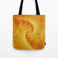 Orange Twist Tote Bag