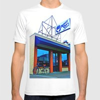Tacoma's Night Owl Mens Fitted Tee White SMALL