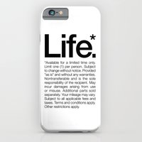 iPhone & iPod Case featuring Life.* Available for a limited time only. (White) by WORDS BRAND™