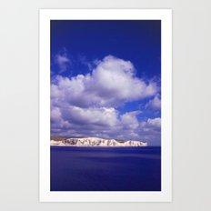 Bluebirds Over The White Cliffs Of Dover Art Print