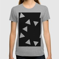 The Triangles Womens Fitted Tee Athletic Grey SMALL