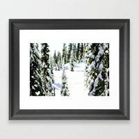 snow-covered Framed Art Print