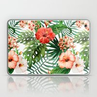 Hibiscus And Palm Leaf P… Laptop & iPad Skin