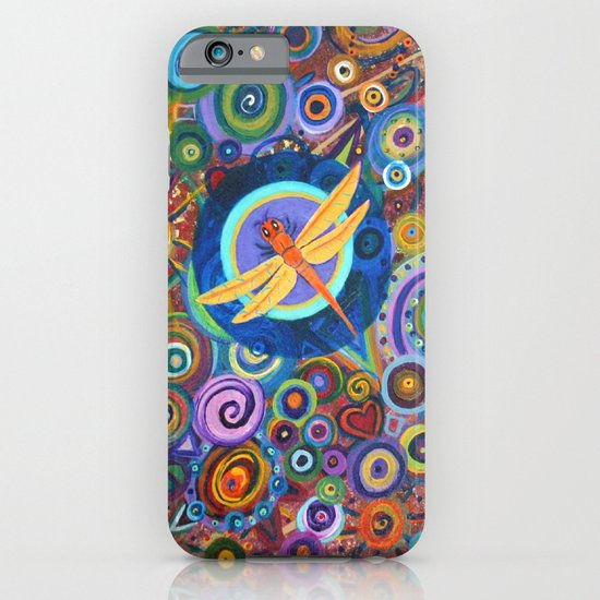Dragonfly and circles iPhone & iPod Case