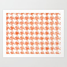 Watercolor Houndstooth Art Print