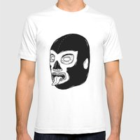 Black Luchador Mens Fitted Tee White SMALL