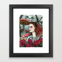 Alice In W-land Framed Art Print