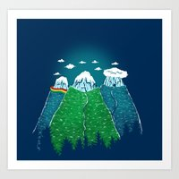 Cold Mountain Art Print