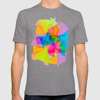 Paper Craft Tissues Mens Fitted Tee Tri-Grey SMALL