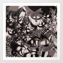 Zebra tricks Art Print