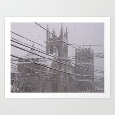 Snow Crossed Castle Art Print