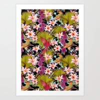 tropical lilly Art Print