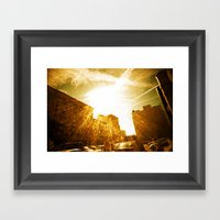 The Golden Sun Shines On… Framed Art Print