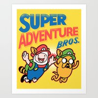 Super Adventure Bros Art Print