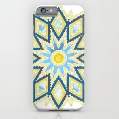 Marble and Gold Pattern in Blue Slim Case iPhone 6s