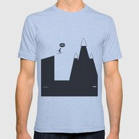 WTF? Ski Mens Fitted Tee Athletic Blue SMALL