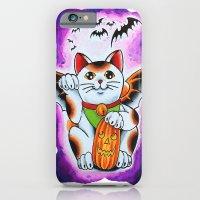 iPhone & iPod Case featuring Halloween Cat by Tilden Art