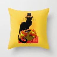 Thanksgiving Le Chat Noi… Throw Pillow
