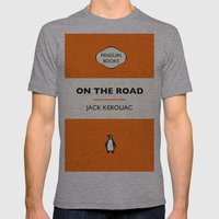 Penguin Book / On The Road - Jack Kerouac  Mens Fitted Tee Athletic Grey SMALL