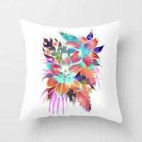 Hana Flower Throw Pillow