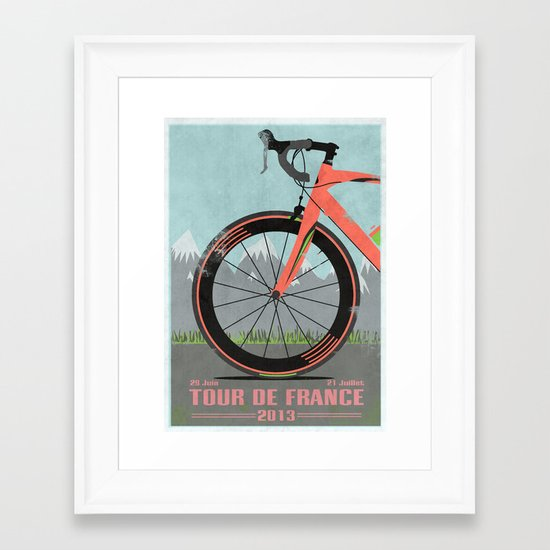 Tour De France Bike Framed Art Print